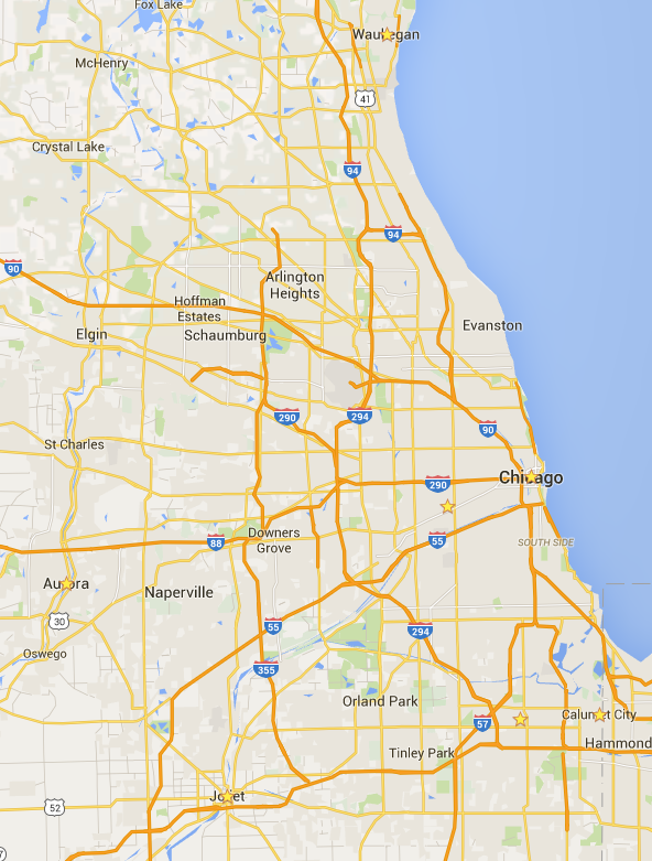 Chicagoland Map